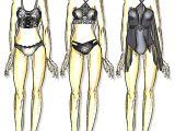 Cartoon Underwear Drawing Fashion Fashiondesign Croqui Sketch Illustration Drawing Style