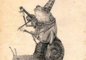 Cartoon Violin Drawing Mark Porter Frog Playing Violin Illustrations 1 Illustration