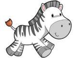 Cartoon Zebra Drawing Images Children S Wall Decals Cartoon Cute Baby Zebra Cute Stuff Baby