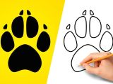 Cat Paw Drawing Easy How to Draw A Dog Paw Print Step by Step