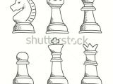 Chess Pieces Drawing Easy Pin On Drawing