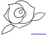 Childs Drawing Of A Rose How to Draw A Rose Step by Step Easy Google Search Draw
