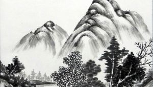 Chinese Landscape Drawing Easy Ae A C Chinese Mean Ink Wash Painting or Sumi E