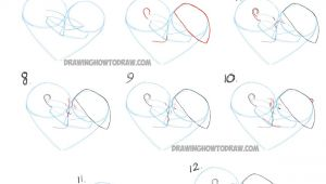 Couple Kissing Drawing Easy How to Draw Romantic Kisses Between Two Lovers Step by