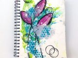Courage Drawing Easy Mixed Media Art Journal Simple Shapes Inspired by Dina