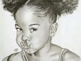 Curly Hair Afro Black Girl Drawing Black Baby Girl Image Shetced Monochrome Black Girl Art
