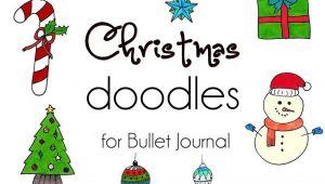 Cute Christmas Drawings Easy Step by Step Easy Christmas Doodles 10 Cute Christmassy Bullet Journal