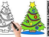 Cute Christmas Drawings Easy Step by Step How to Draw A Christmas Tree A Cute Easy Drawing Tutorial