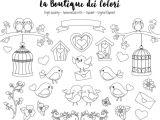 Cute Drawing for Valentines Valentine S Day Birds Digital Stamps Clipart Cute Png Graphics