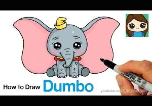Cute Drawing Ideas Youtube How to Draw Dumbo Easy and Cute Youtube Drawing Cute Drawings