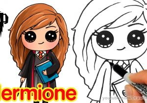 Cute Drawing Ideas Youtube How to Draw Hermione Easy Harry Potter Youtube