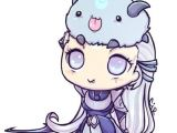Cute Drawing Lol Chibi Diana with Poro 3 League Of Legends Art Pinterest