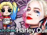 Cute Drawing Of Harley Quinn How to Draw Suicide Squad Harley Quinn Chibi Youtube