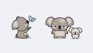 Cute Drawing Of Koala Premium Vector Clipart Kawaii Koala Cute Koalas Clipart Etsy