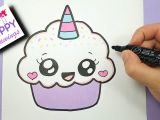 Cute Drawings Easy Unicorn How to Draw A Cute Cupcake Unicorn Super Easy and Kawaii Youtube