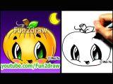 Cute Easy Apple Drawing How to Draw A Pumpkin for Halloween Fun2draw Cartoon