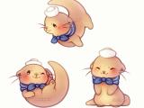 Cute Kawaii Drawings Animals Kawaii Sailor Otter Animal Drawings Cute Drawings Cute