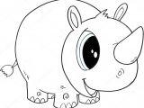 Cute Rhino Drawing A Adny Rhino Ilustracji Wektorowych Grafika Wektorowa