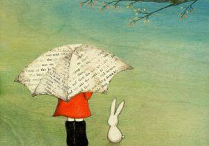 Cute Umbrella Drawing that Cute Little Bunny Rain A A A Umbrella Art Illustration