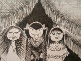 Cute Vampire Drawing Vampire Romance Aceo Art Card Dracula Romantic Female Vampires