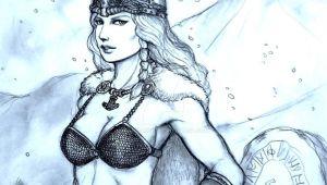 Cute Viking Drawing Shield Less Maiden asa the Horny Viking by Gambargin On Deviantart