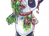 Cute Zombie Drawing Easy Zombie Panda Tattoo Ideas Zombie Tattoos Zombie Drawings