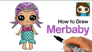 Descendants 2 Drawings Easy How to Draw Merbaby Easy Lol Surprise Doll Youtube Drawing