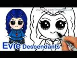 Descendants 2 Easy Drawings 84 Best Drawing Images Kawaii Drawings Disney Drawings Disney