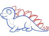 Dinosaur Drawing Easy Cute Dinosaurs How to Draw A Stegosaurus for Kids Dinosaur