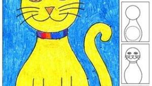 Directed Drawing Of A Halloween Cat Draw A Sitting Cat Art Drawing Sketching Art Projects Art
