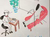 Doc M Drawing therapist Cartoon Dry Erase Marker Art Art by Rachel Harrison
