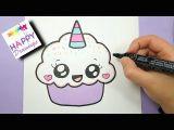 Donut Drawing Easy 228 Kawaii Einhorn Malen How to Draw Cute Unicorn
