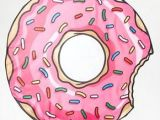 Donut Drawing Easy Big Mouth Couverture De Plage Motif Beignet Donut