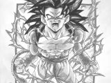 Dragon Ball Z Cartoon Drawing Dbz Gt Character Drawings Dragonball Gt Black and White Goku Ss4