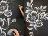 Draw A Rose with Chalk 97 Best Chalk Marker Images Chalkboards Black Dry Erase Board