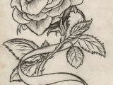Draw Out A Rose Thorn Rose with Ribbon Tattoo by Maszeattack Deviantart Com On Deviantart