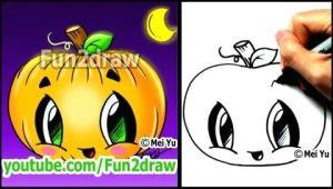 Draw Pumpkin Easy How to Draw A Pumpkin for Halloween Fun2draw Cartoon