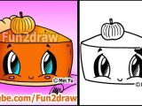 Draw Pumpkin Easy How to Draw Thanksgiving Things Cute Pumpkin Pie Fun2dra