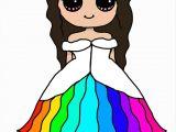Draw so Cute How to Draw A Girl Dress for A Pinterest Rainbows Rhpinterestcomau Pin Od Zuzia