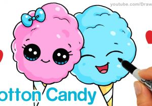 Draw so Cute New Drawing How to Draw Cotton Candy Easy Cartoon Food Youtube