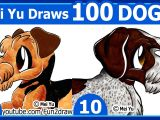 Drawing 100 Dogs Drawing Challenge Mei Yu Draws 100 Dogs 9 10 Fun 2 Draw
