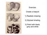 Drawing 2 Syllabus 3 Styles Still Life Tripych Brenda Robson Art Art Synectics