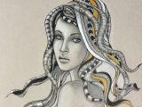 Drawing 4 Fall Hairstyles Hairstyle Drawing by Natalya Simonova Saatchi Art