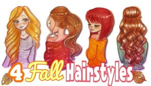 Drawing 4 Fall Hairstyles How to Draw 4 Fall Hairstyles Fallseries 2017a Art