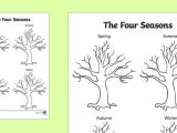 Drawing 4 Seasons Four Seasons Tree Drawing Template Seasons Trees Plants Draw