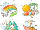 Drawing 4 Seasons the Four Seasons In Cartoon Pictures Summer Summer Summer