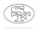 Drawing 49ers Logo Learn How to Draw San Francisco 49ers Logo Nfl Step by Step