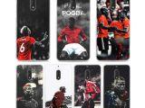 Drawing 5.0 Mougol Football Paul Pogba Printing Drawing Transparent Hard Phone
