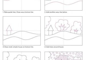 Drawing 6 Class Pop Art Landscape Craft for Class Art Drawings Art Projects