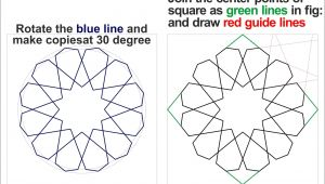 Drawing 7 Red Lines How to Draw islamic Pattern Using An Easy Method islamic Designs